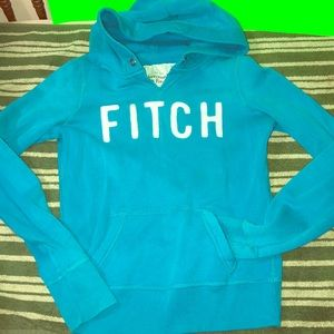 Blue Abercrombie & Fitch Hoodie